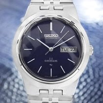Seiko Emblem Mens Vintage Day Date Automatic Watch 2409 0030 ...