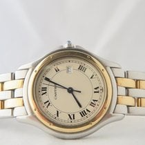Cartier Panthere Cougar 18k Steel Gold 33mm Two Gold Lines