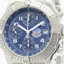 Breitling Polished Breitling Chronomat Blue Impulse Steel...