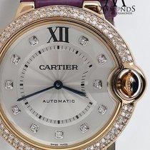 Cartier Ballon Bleu De Cartier 36mm 18k Rose Gold Purple Strap...