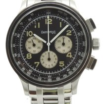 Eberhard & Co. Aviograf Black Dial Steel Bracelet Perfect...