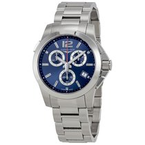 Longines Conquest Blue Dial Automatic Mens Chronograph Watch...