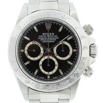 Rolex Daytona 16520 Zenith Stainless Steel Black Dial Watch