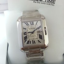 Cartier W5310024 Tank Anglaise 18K White Gold Automatic [NEW]