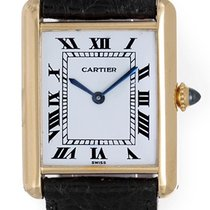 Cartier Tank Ladies 18k Yellow Gold Manual Winding Watch