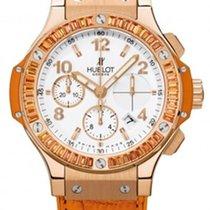 Hublot Big Bang Gold Tutti Frutti 18K Rose Gold Orange Leather...