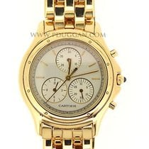 Cartier 18k yellow gold ladies Cougar Chronoflex
