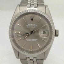 Rolex Mens Rolex Datejust Stainless Steel Gray Dial Jubilee...