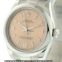 Rolex Oyster Perpetual No-Date Mid-Size Salmon Dial Ref. 177200