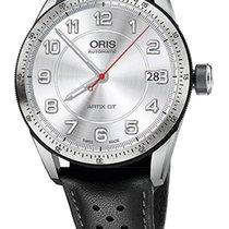 Oris Artix GT Date, Tungsten Top Ring, Leather Bracelet