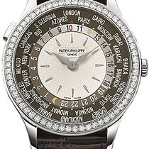 Patek Philippe Brown and Ivory Dial 18kt White Gold Diamond...