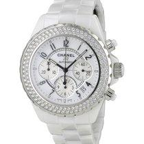 Chanel J12 Blanche Chronographe Diamants