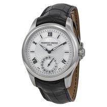 Frederique Constant Maxi Manufacture Silver Guilloche Leather...