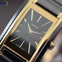 Rado Ladies' Integral Ceramic & Steel Black Face Gold...