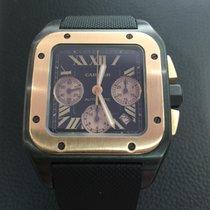 Cartier Santos 100 PVD and 18k punk Gold