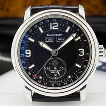 Blancpain 2863-1130-53B Leman Complete Calendar Moon SS Black...