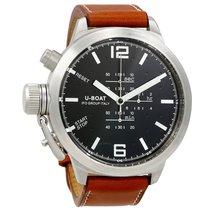 U-Boat Black Dial Light Brown Leather Men's Watch