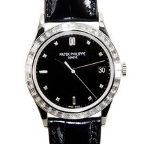 Patek Philippe New  Calatrava White Gold Black Automatic...