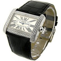 Cartier WA301370 Tank Divan White Gold with Diamond Bezel - On...