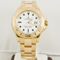 Rolex 40mm 18k Yellow Gold Yachtmaster 16628 White Face