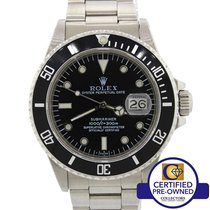 Rolex Submariner Date Stainless  Steel Black 40mm Dive R Watch