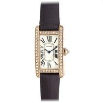 Cartier 18K Pink Gold & Diamond Tank Americaine Ladies Watch