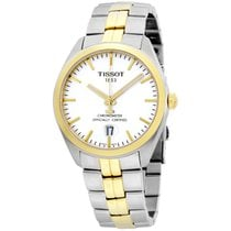 Tissot Pr100 Silver Dial Two Tone Stainless Steel Men's...