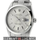 Rolex Oyster Perpetual Date 34mm Stainless Steel Silver Index...