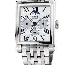 Oris Rectangular Silver Dial Stainless Steel Men's Watch...
