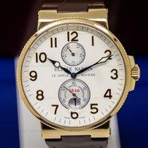 Ulysse Nardin 266-66 Maxi Marine Chronometer Silver Arabic 18K...