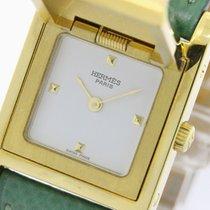 Hermès Medor Gold Plated Leather Quartz Ladies Watch - (bf083855)