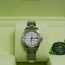 Rolex Ladies DateJust Stainless Steel White Dial-179174