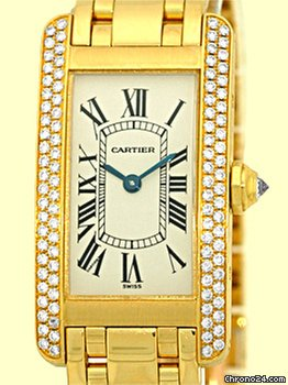 Cartier Diamond Tank Americaine