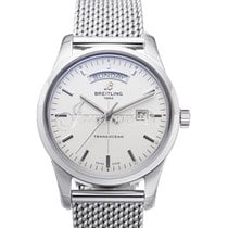 Breitling A4531012 G751 154A TRANSOCEAN DAY DATE 43mm STAINLES...