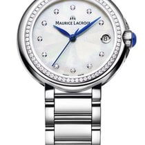 Maurice Lacroix Fiaba. 32, Diamond Bezel Pearl Dial, Blue...
