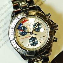 Breitling Transocean Chronograph Silver Quartz