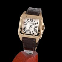 Cartier Santos 100 Yellow Gold Automatic Men Size