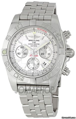 Breitling Windrider Chronomat Silver Dial Mens Watch AB011012-G684SS