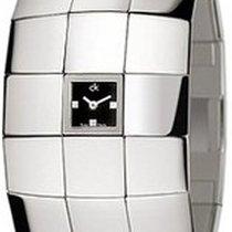 ck Calvin Klein Women's Mirrored Dial Stainless Steel Cuff