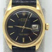 Rolex Vintage Datejust 1601 18k YG RARE Black GILT Dial