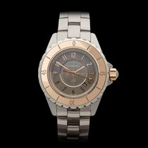 Chanel J12 Chromatic Ceramic and 18K Beige Gold Ladies H4197