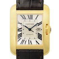 Cartier Tank 18 K Yellow Gold Silver Automatic W5310030