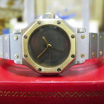 Cartier Santos Octagon Ladies Steel 18k Gold 25mm Date...