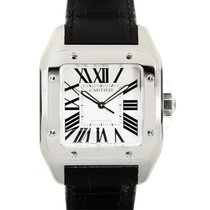Cartier Santos Stainless Steel White Automatic W20073X8