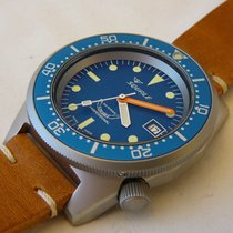 Squale Professional OCEAN 500mt - blasted case,  leather strap