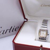 Cartier 2423 Santos 18K Yellow Gold & Stainless Steel Box...