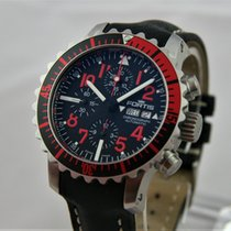 Fortis B-42 Marinemaster Red Day/Date Chronograph Full Set