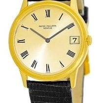 "Patek Philippe Vintage Gent's 18K Yellow Gold  ""Calatr..."