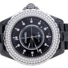 Chanel J12 Black Ceramic 42mm Diamond Bezel H2014