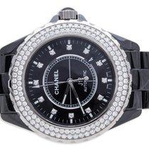 Chanel J12 Black Ceramic 42mm Diamond Bezel H2014